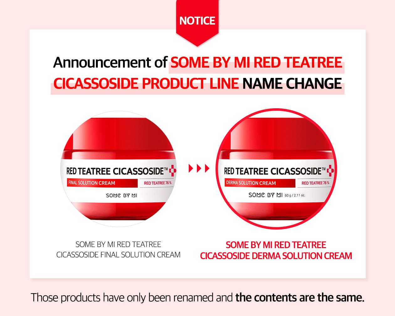 SOME BY MI - Red Teatree Cicassoside Derma Solution Cream - 60g