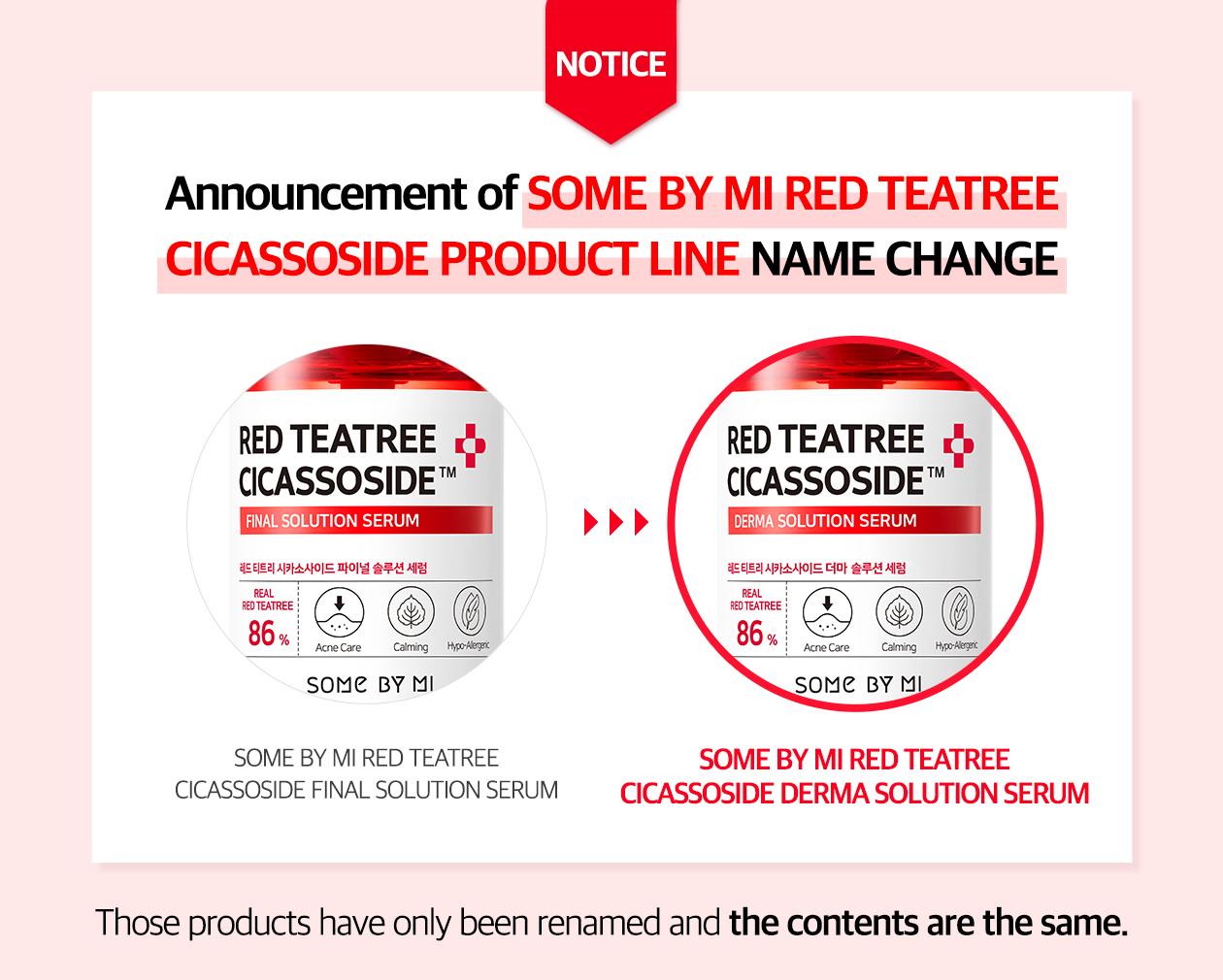 SOME BY MI - Red Teatree Cicassoside Derma Solution Serum - 50ml