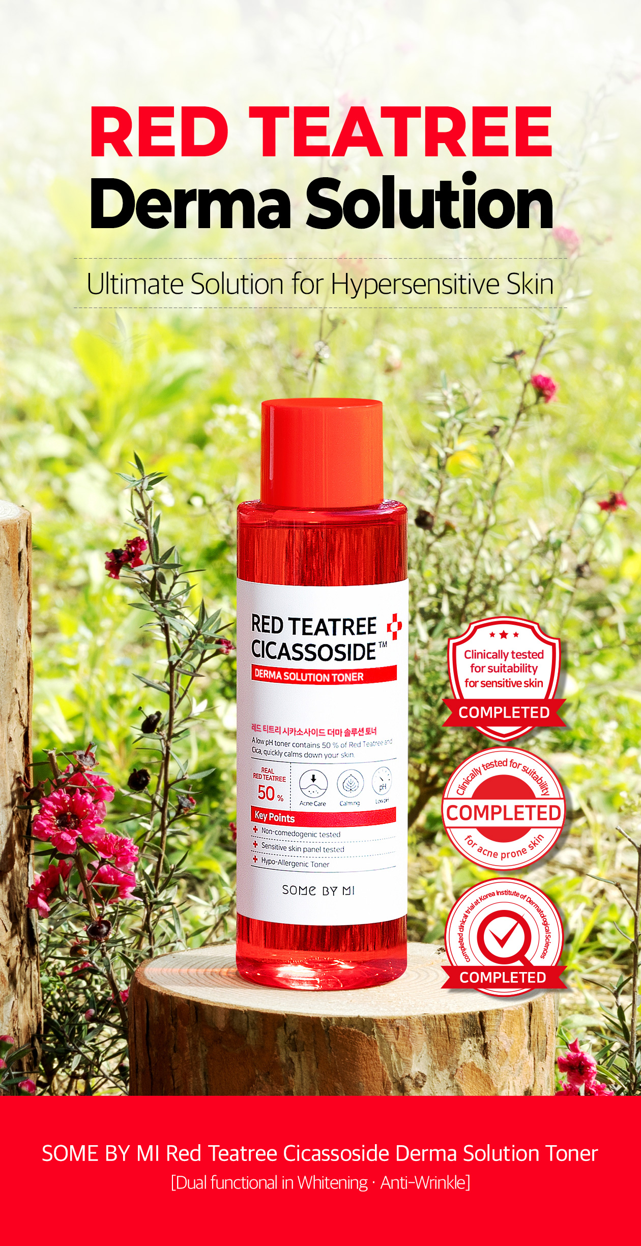 SOME BY MI - Red Teatree Cicassoside Derma Solution Toner - 150ml