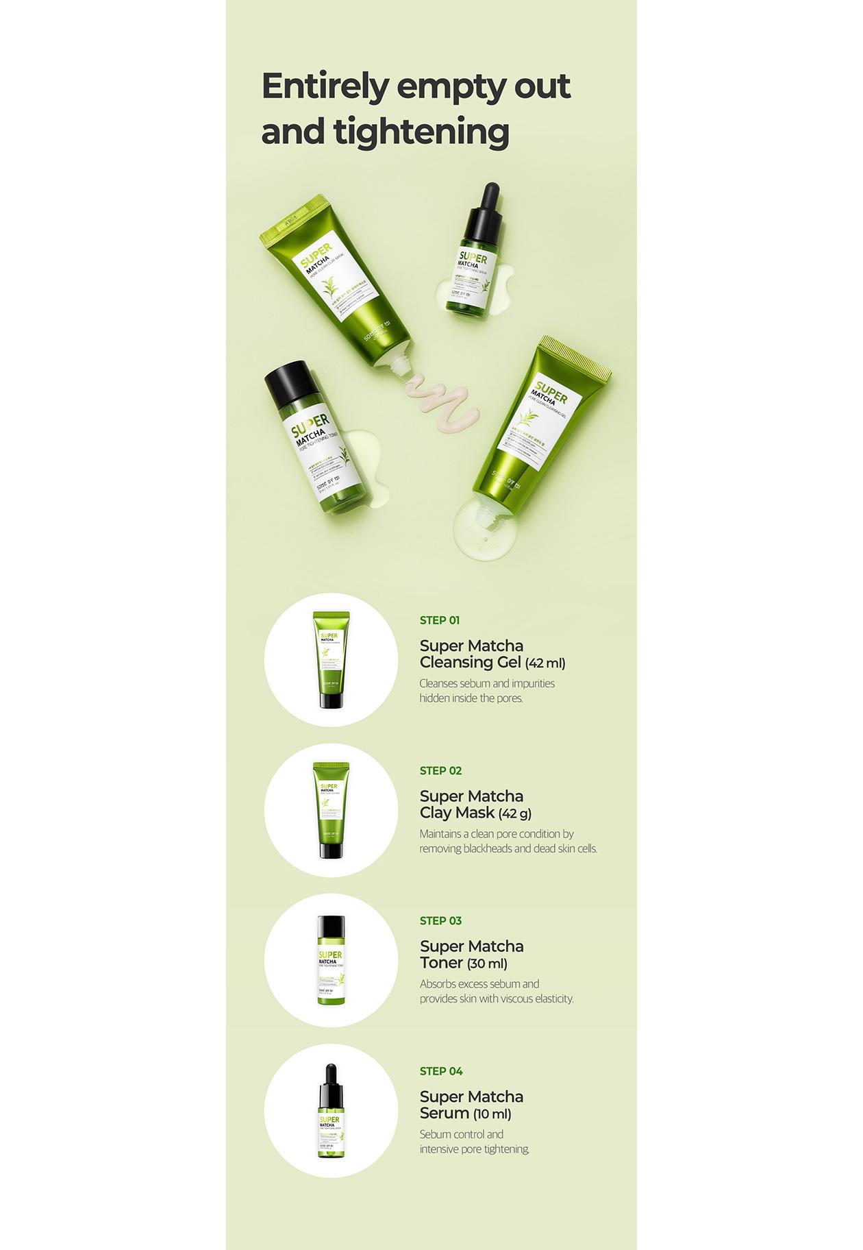Shop SOME BY MI - Super Matcha Pore Care Starter Kit (Edition) - 1set(4items)  | Stylevana