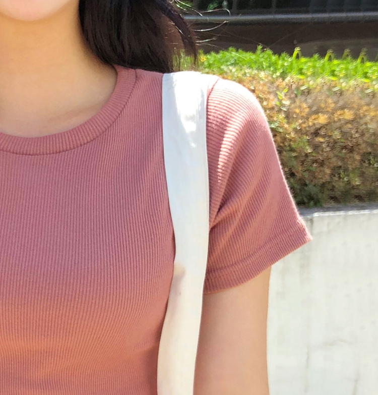 Icecream12 - Short-Sleeve Ribbed Plain Tee